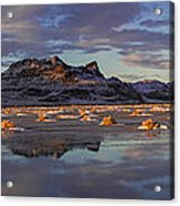 Winter In The Salt Flats Acrylic Print
