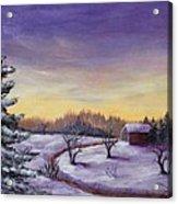 Winter In Vermont Acrylic Print by Anastasiya Malakhova