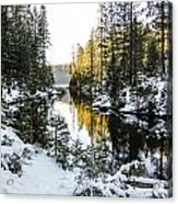 Winter Lake Acrylic Print