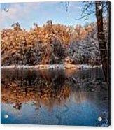 Winter Lake Reflections Acrylic Print