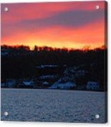 Winter Lake Sunset Acrylic Print