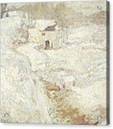 Winter Landscape Acrylic Print by John Henry Twachtman