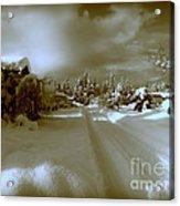 Winter Lane Acrylic Print