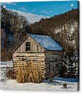 Winter Logcabin Acrylic Print