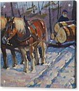 Winter Logging Acrylic Print