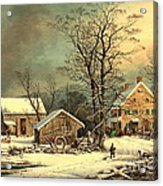 Winter Morning 1863 Acrylic Print