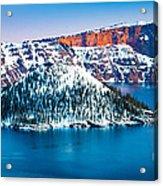 Winter Morning At Crater Lake Acrylic Print