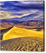 Winter Morning At Death Valley Acrylic Print