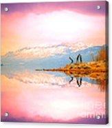 Winter Morning At Okanagan Lake Acrylic Print