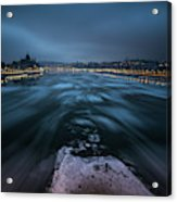 Winter Morning In Budapest Acrylic Print