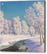 Winter Morning In Engadine Acrylic Print