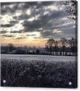 Winter Morning In Kent Acrylic Print