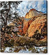 Winter Morning In Zion Acrylic Print