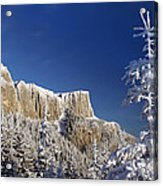 Winter Mountain Landscape Acrylic Print