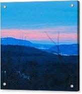 Winter Mountain Sunset Acrylic Print
