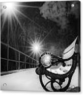 Winter Night Along The River Acrylic Print
