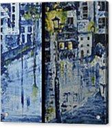 Winter Night In The City Acrylic Print