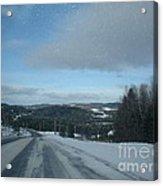 Winter Norhtern Maine Acrylic Print