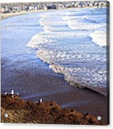 Winter Ocean In Newport Ri Acrylic Print