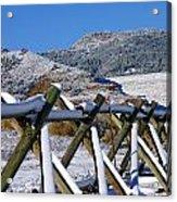 Winter On Horsetooth Mountain Acrylic Print