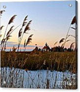 Winter On The Delaware  Acrylic Print