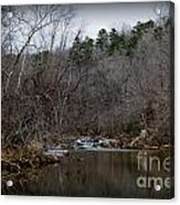 Winter On The Eno River At Fews Ford Acrylic Print