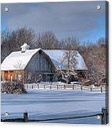 Winter On The Farm 14586 Acrylic Print