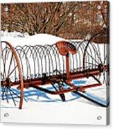 Winter On The Farm Acrylic Print