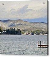 Winter On The Lake Acrylic Print