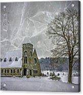 Winter on the Old Stone Church Acrylic Print