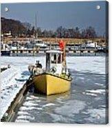 Winter On The Sea Side In Denmark Acrylic Print
