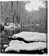 Winter On The Wissahickon Creek Acrylic Print