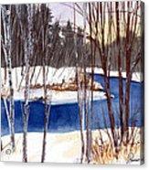 Winter Open River Acrylic Print