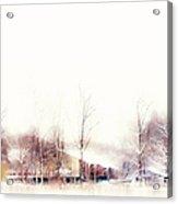 Winter Painting Vii. Aquarel By Nature Acrylic Print