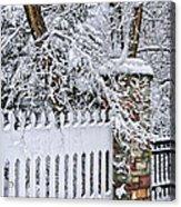 Winter Park Fence Acrylic Print by Elena Elisseeva