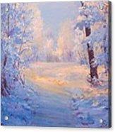 Winter Path. Acrylic Print