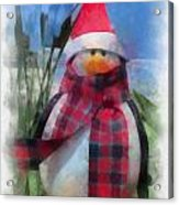 Winter Penguin Photo Art Acrylic Print