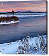 Winter Quiet And Colorful Acrylic Print
