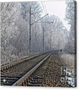 Winter Railroad Acrylic Print