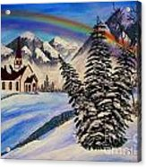 Winter Rainbow Acrylic Print