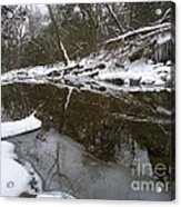 Winter Reflections On Ice And Water Acrylic Print