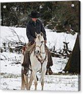 Winter Riding Acrylic Print