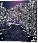 Winter River Oulanka National Park Lapland Finland  Acrylic Print