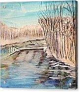 Winter River Scene Acrylic Print