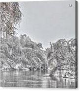 Winter River Scene Acrylic Print