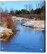 Winter River2 Acrylic Print by Jennifer  King