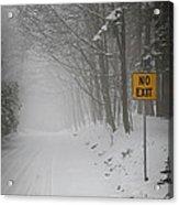 Winter Road During Snowfall I Acrylic Print