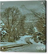 Winter Road Acrylic Print