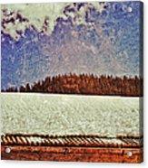 Winter Roofline Acrylic Print