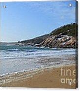 Winter Sand Beach Acadia Acrylic Print